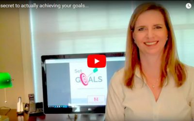 The secret to actually achieving your goals…VIDEO
