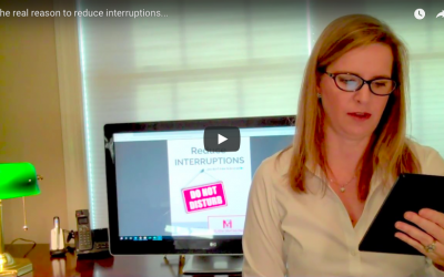 The real reason to reduce interruptions… VIDEO